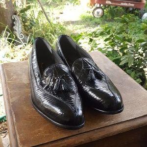 Stacy Adams   Alberto Snakeskin Slip-on Loafers 12